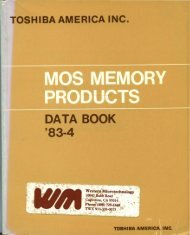 toshiba :: dataBooks :: 1983 Toshiba MOS Memory