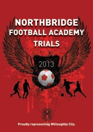 HERE - Northbridge Football Club