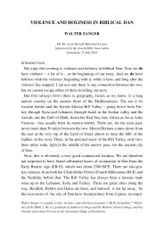 violence and holiness in biblical dan - Jewish Bible Quarterly ...