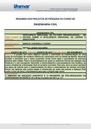 ENGENHARIA CIVIL - Unimar