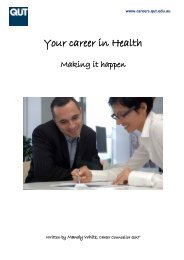 Your career in Health - QUT Careers and Employment