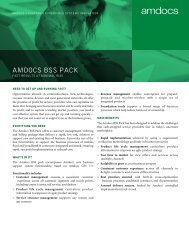 BSS Pack - Data Sheet - Amdocs