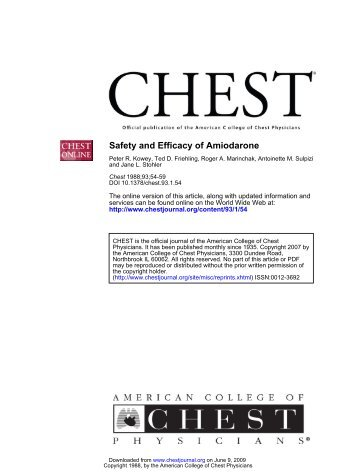 Safety and Efficacy of Amiodarone