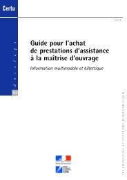 Guide pour l'achat de prestations d'assistance à la maîtrise ... - predim