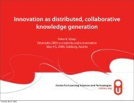 Innovation as distributed, collaborative knowledge generation