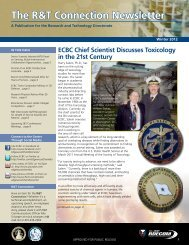The R&T Connection Newsletter - Edgewood Chemical Biological ...