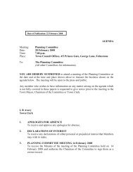 AGENDA Meeting: Planning Committee Date: 28 February 2008 ...