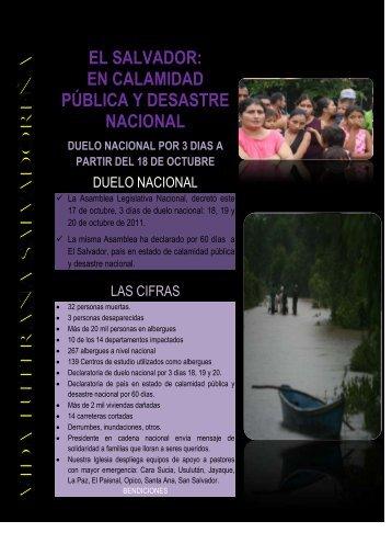 en calamidad pública y desastre nacional - Partners with El Salvador