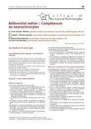 Référentiel métier / Compétences du neurochirurgien - Académie ...
