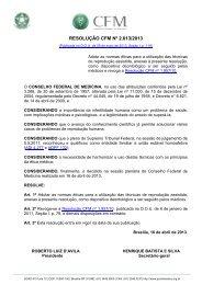 Resolução CFM n. 2013/2013 - Conselho Federal de Medicina