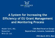 A System for Increasing the Efficiency of EU Grant Management and ...