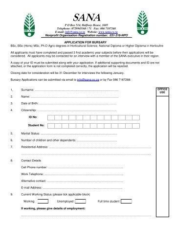 0729945368 / 71 Fax: 086 7187268 E-mail: info@sana.co.za Website