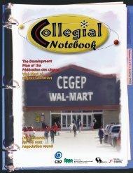 The Development Plan of the Fédération des cégeps Wal-Mart of ...