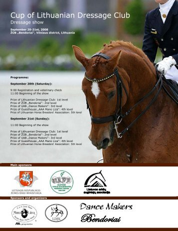 Cup of Lithuanian Dressage Club