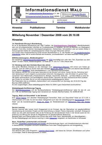 Informationsdienst WALD - SDW
