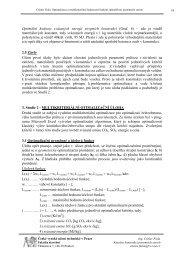 Multikriteriální optimalizace - Ctislav Fiala