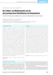 Der Einfluss von Medikamenten auf die akut postoperative ...