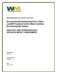 Geology & Hydrogeology – Part 1 - West Carleton Environmental ...
