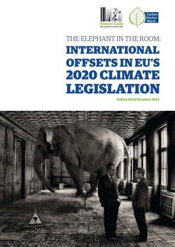 International Offsets in EU's 2020 Climate Legislation