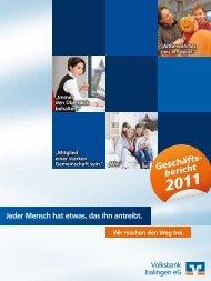 Geschäftsbericht - Volksbank Esslingen eG