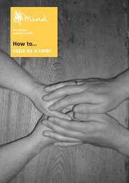 How to cope as a carer - Mental Health In The UK