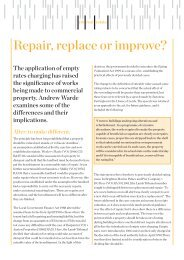 Repair, replace or improve? - Capita Symonds
