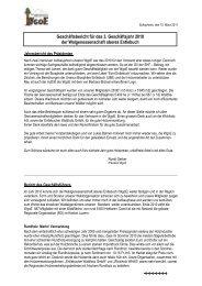 Geschäftsbericht für das 3. Geschäftsjahr 2010 der ... - WgoE