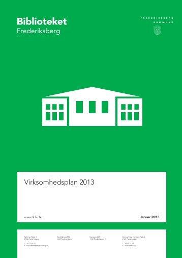 Virksomhedsplan 2013 - Frederiksberg Bibliotek