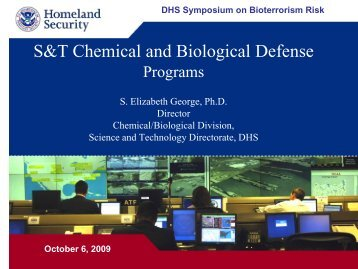 DHS - S&T Chemical and Biological Defense Programs - Sandia ...