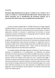 urbanistica/relazione piano casa.pdf - Comune di Benevento