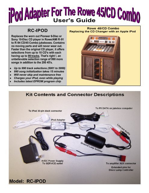 User's Guide - CD Changer Interfaces and Conversion Kits for