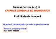 Corso A (lettere A-L) di CHIMICA GENERALE ED