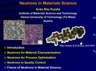 Neutrons in Materials Science - SNI-Portal