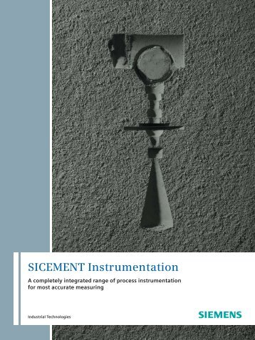 Brochure SICEMENT Instrumentation - Siemens Industry, Inc.