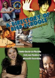 Para Admisión en el 2009 - The School District of Philadelphia
