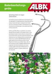 Prospekt Bodenbearbeitungsgeräte - Alba Krapf AG