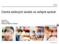 Centra sdílených služeb ve veřejné správě