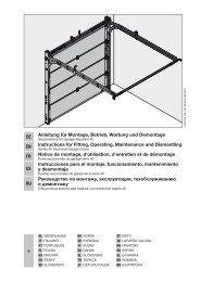 Garagen-Sectionaltore BR 40 N-Beschlag