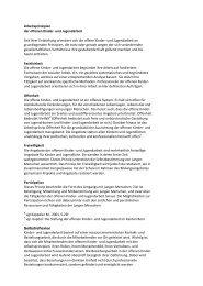 Arbeitsprinzipien der offenen Kinder- und Jugendarbeit Seit ... - VOJA