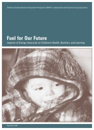 Fuel for Our Future - Children's HealthWatch