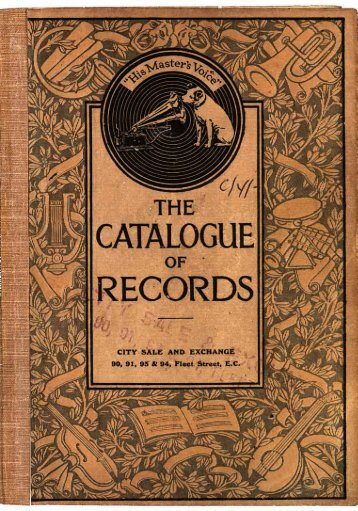 His Master's Voice General Catalogue 1915 - British Library - Sounds