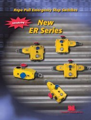 The ER Series Rope Pull Emergency Stop Switches - Minarik