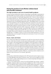 Driving the provision of cost-effective evidence-based and ...