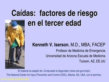 Caídas: factores de riesgo en el tercer edad - Reeme.arizona.edu