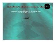 effetti biologici delle radiazioni ionizzanti - INFN