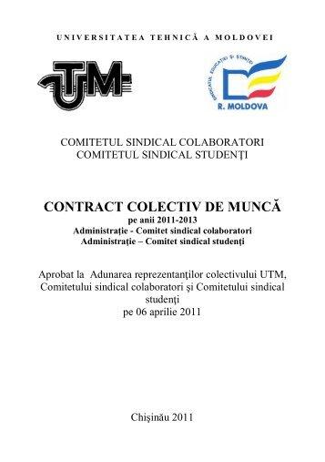 Contractul colectiv de muncă - Universitatea Tehnică a Moldovei