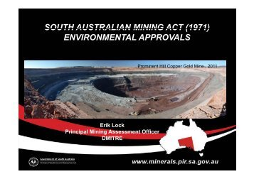 south australian mining act (1971) environmental approvals