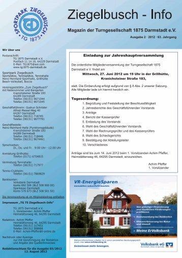 Ausgabe April/Mai/Juni 2012 - TG 1875 Darmstadt