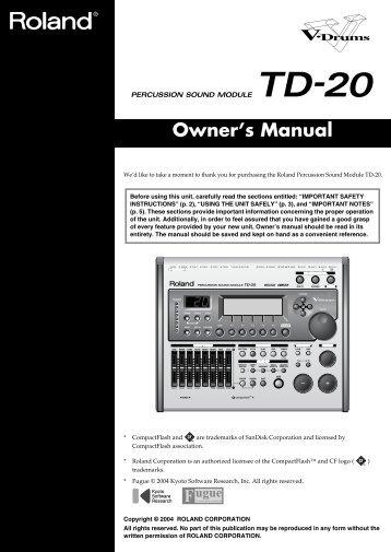 Roland TD-20 V-Drum Controller - Steven DeVoss