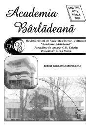 Anul XIII, 1(22), Trim. I, 2006 - Academia Barladeana